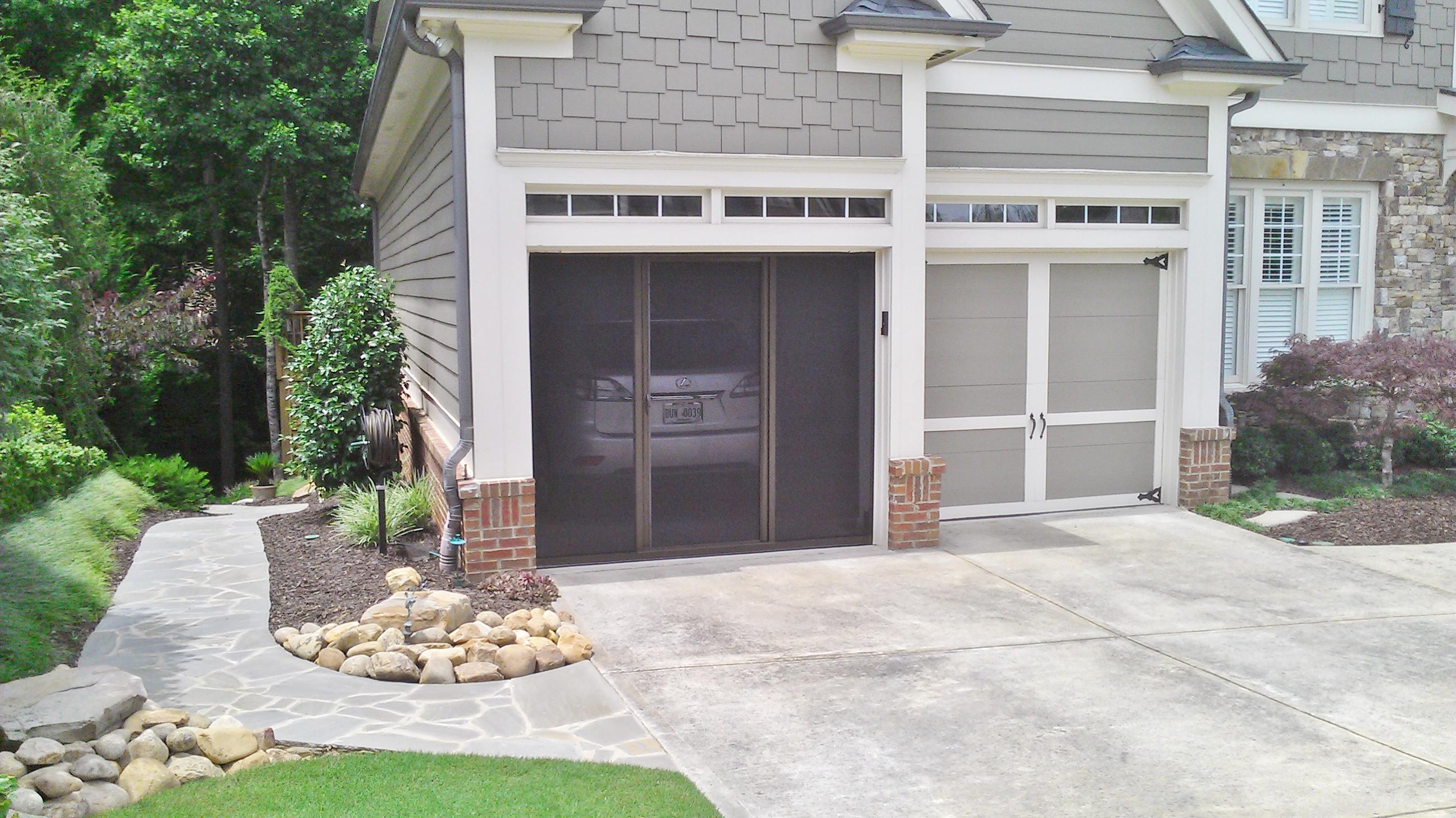 openings door image screens for overhead garage national screen